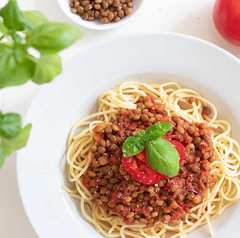 Spaghetti Bolognese Vegan