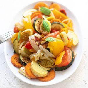 Mediterranes Gemüse vom Backblech
