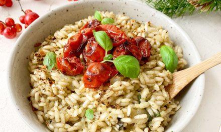 Risotto mit Pesto und gerösteten Tomaten