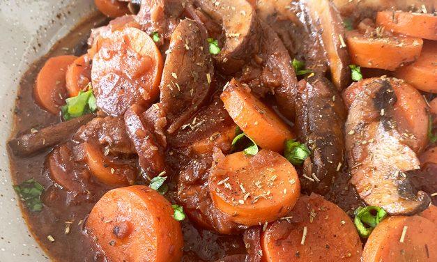 Vegetarisches Boeuf Bourguignon